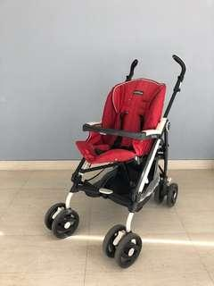 Peg Perego Red 0-4yrs Stroller, smooth ride