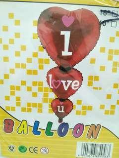 I love u 95/47 foil balloon