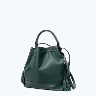 🚚 Zara leather bucket bag