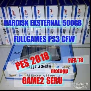 Hardisk 500gb fullgames ps3