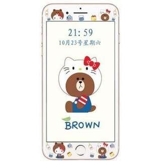 日本可愛KITTY 小熊 不易碎邊鋼化膜 / 蘋果iphone7/8 (4.7吋使用)