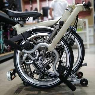 🏆 2017 Brompton Super Sale 🏆 M type Handlebar 🥇 Titanium 6RX 🥇 Ivory 🥇 Only at $3475