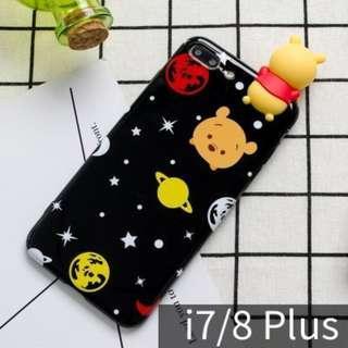 迪士尼可愛星空維尼熊手機殼/ 蘋果iphone 7plus /8plus (5.5吋使用)