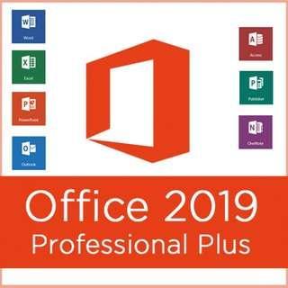 [ Offical 正版 ] 最新!! Office 19 正版 長用Word Excel Powerpoint 多種軟件 Win10 專用