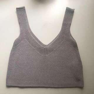 Aritzia Wilfred Knit Crop Top