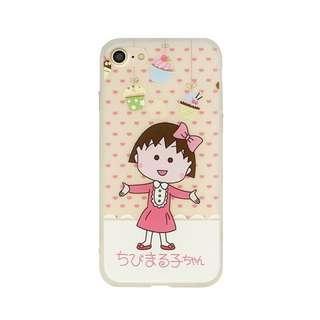 日本可愛粉系小丸子 軟殼手機殼 / 蘋果iphone 7 / 8plus (5.5吋使用)