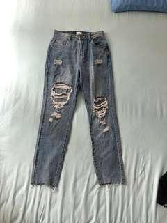 SALE BN Cotton On High90s Ripped Mom Jeans/Pants
