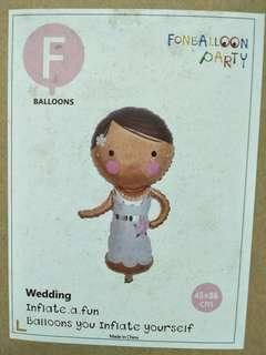 Wedding 45/86 girl boy balloons