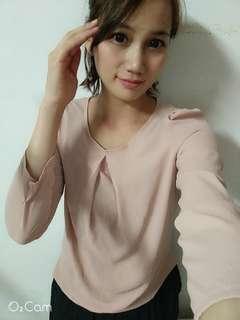 🚚 氣質款韓國雪紡七分袖上衣