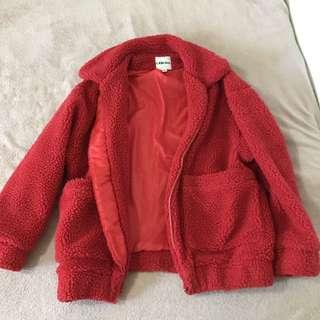 I AM GIA RED PIXIE COAT XS