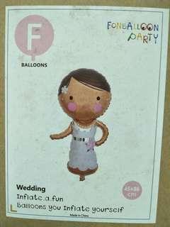 Wedding girl 45/86cm foil balloon