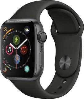 I-watch Series 4, Space Gray Alum Case, black sport band 40mm