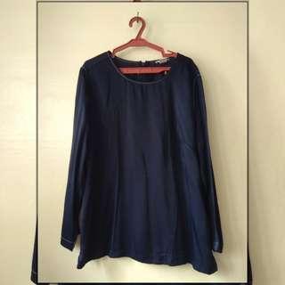 H&M Navy Blue Long Sleeves