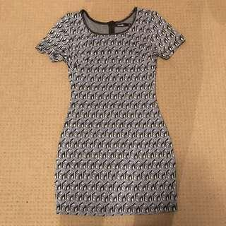 GEOMETRIC PATTERN DRESS