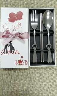 Fork spoon and chopsticks