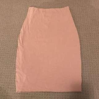BASIC NUDE SKIRT