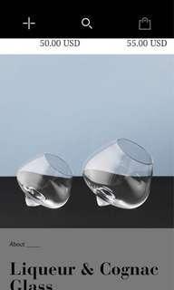 諾曼哥本哈根酒與乾邑玻璃杯。 Norman Copenhagen.