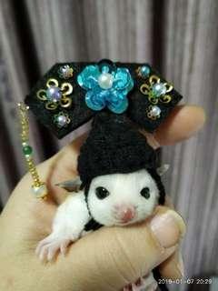Handmade traditional Chinese costume sugar glider hat