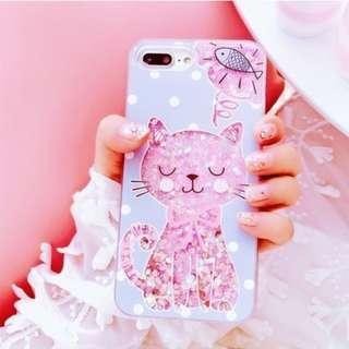 韓國可愛氣質貓流沙手機殼 / 蘋果iphone6/6s plus (5.5吋使用)