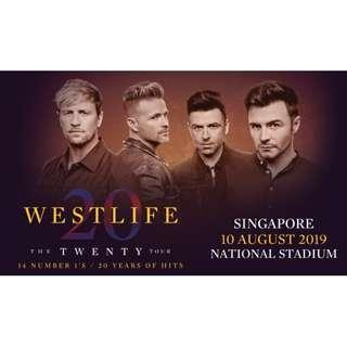 WESTLIFE The Twenty Tour Singapore Concert Tickets