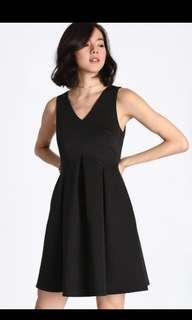 Love Bonito Nadane Box Pleats Dress in Black