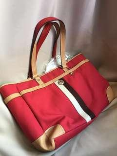 ( INCL POST )Coach Red Bag Authentic Baby Milk Bottle Carrier #APR10