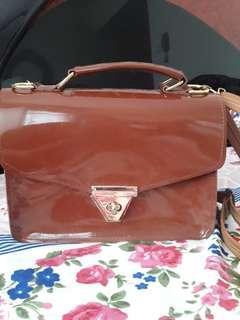 Mini Sling Bag Tas Tali Panjang Kulit