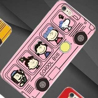 歐美可愛粉色史努比巴士 軟殼 手機殼 / 蘋果iphone6/6splus (5.5吋使用)