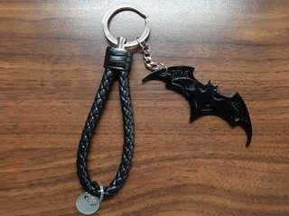 🚚 【質感保證好】蝙蝠俠皮革鑰匙圈吊飾
