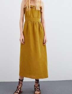 Dress Zara Mididress Custard Dress Summer Dress Pantai