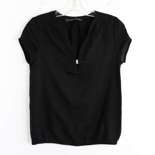 Zara XS black top blouse