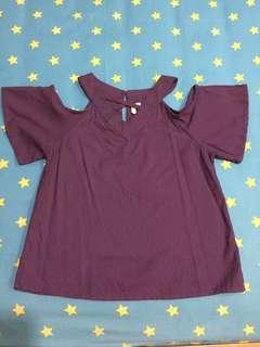 Cutout Purple Top