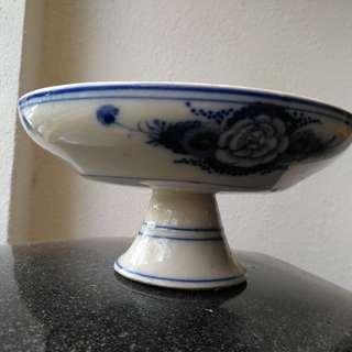 Blue ceramic dish