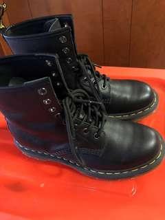Black leather Dr Martens