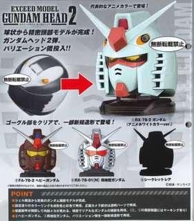 預訂7月Bandai 高達頭 Gundam Head 2