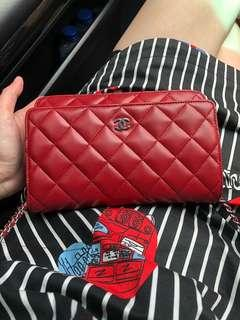 Authentic Chanel WOC red shw lambskin #15
