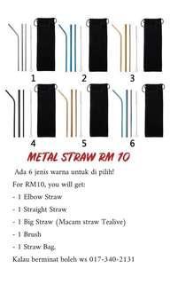 Metal straw (1set)  rm10