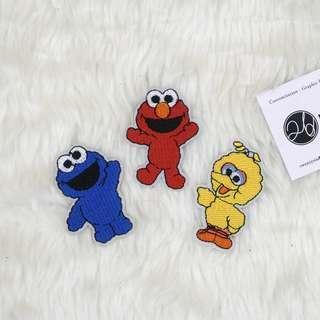 Iron On Patch | Sesame Street Baby | Elmo, Big Bird, Cookie Monster