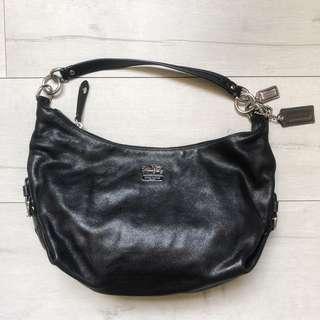 Coach Madison Hailey black leather satchel #14304
