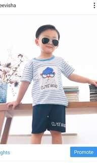 1 set baju anak laki laki import