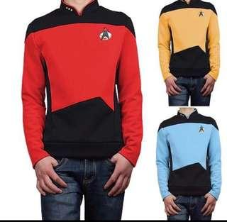 Star Trek men Halloween costume (red & yellow)