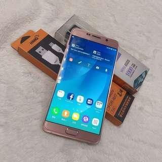 second hand  Samsung NOTE5 Pink4G RAM 32G ROM