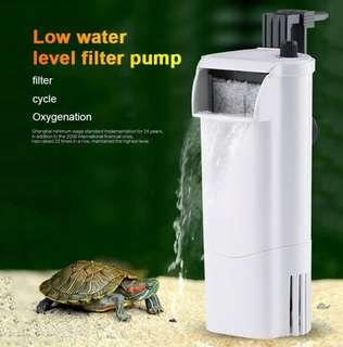 🚚 Filter water pump waterfall circulation device silent for fish turtle tank.
