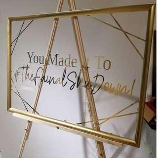 🚚 [Rental] Custom Wedding Sign with Gold Frame