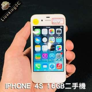🚚 iPhone 4S 16GB二手機白色