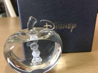 迪士尼水晶Apple Thinking Mickey