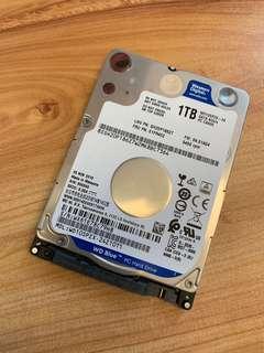 WD WD10SPZX 藍標 1TB(7mm) 2.5吋硬碟