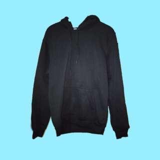 unisex oversized plain black hoodie