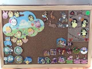 Disney pin 迪士尼徽章 襟章 pins