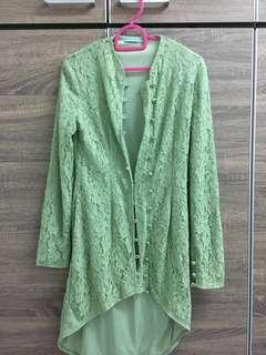Poplook Green Lace Kebaya